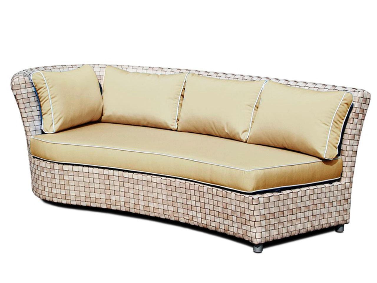 Плетеный правый диван Florence