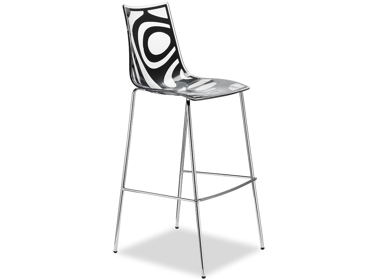 Барный пластиковый стул Wave Barstool