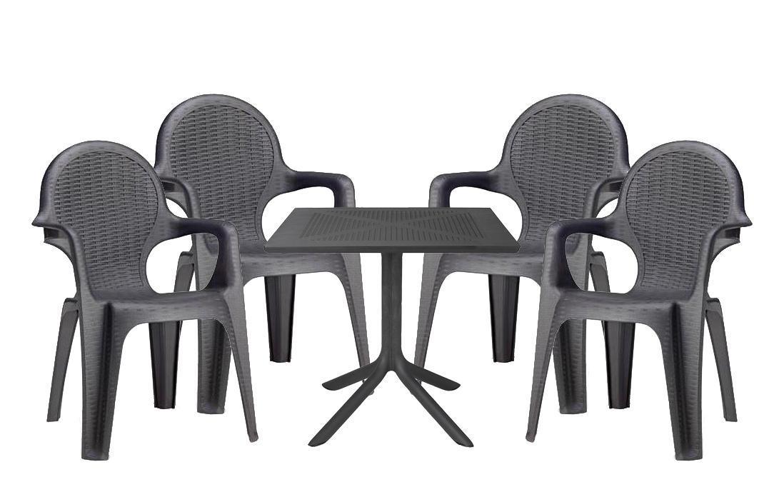 Комплект пластиковой мебели Clip Intrecciata
