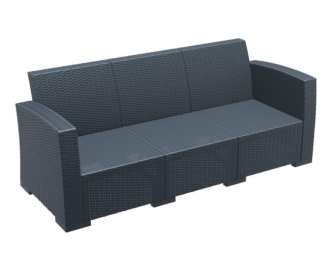 Диван пластиковый плетеный Monaco Lounge Sofa XL