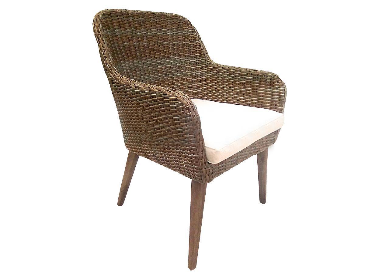 Кресло плетеное с подушкой Coco
