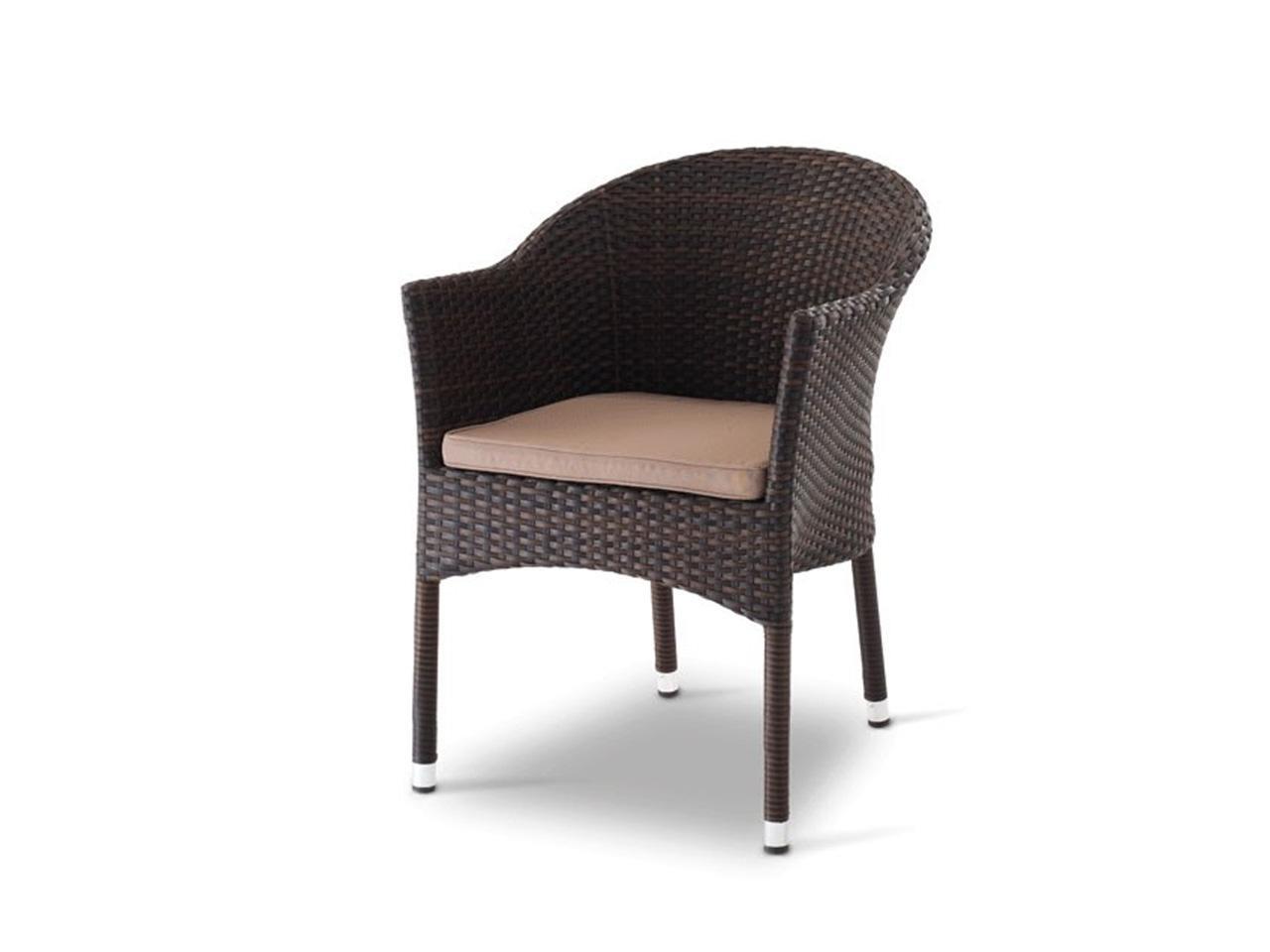 Кресло плетеное с подушкой Kama