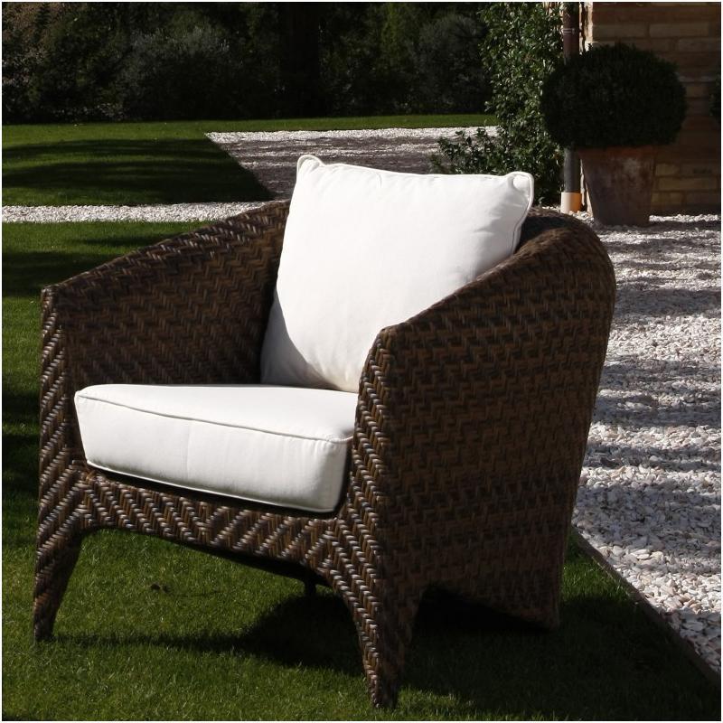 Кресло плетеное с подушками Plaza