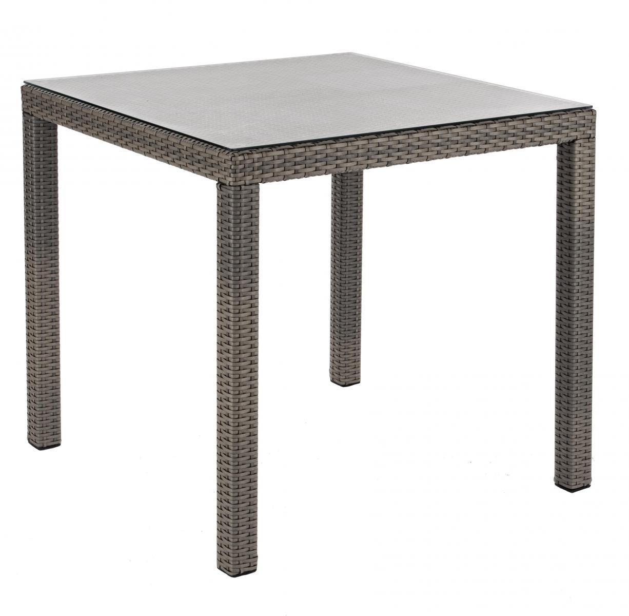 Стол плетеный со стеклом Lancaster