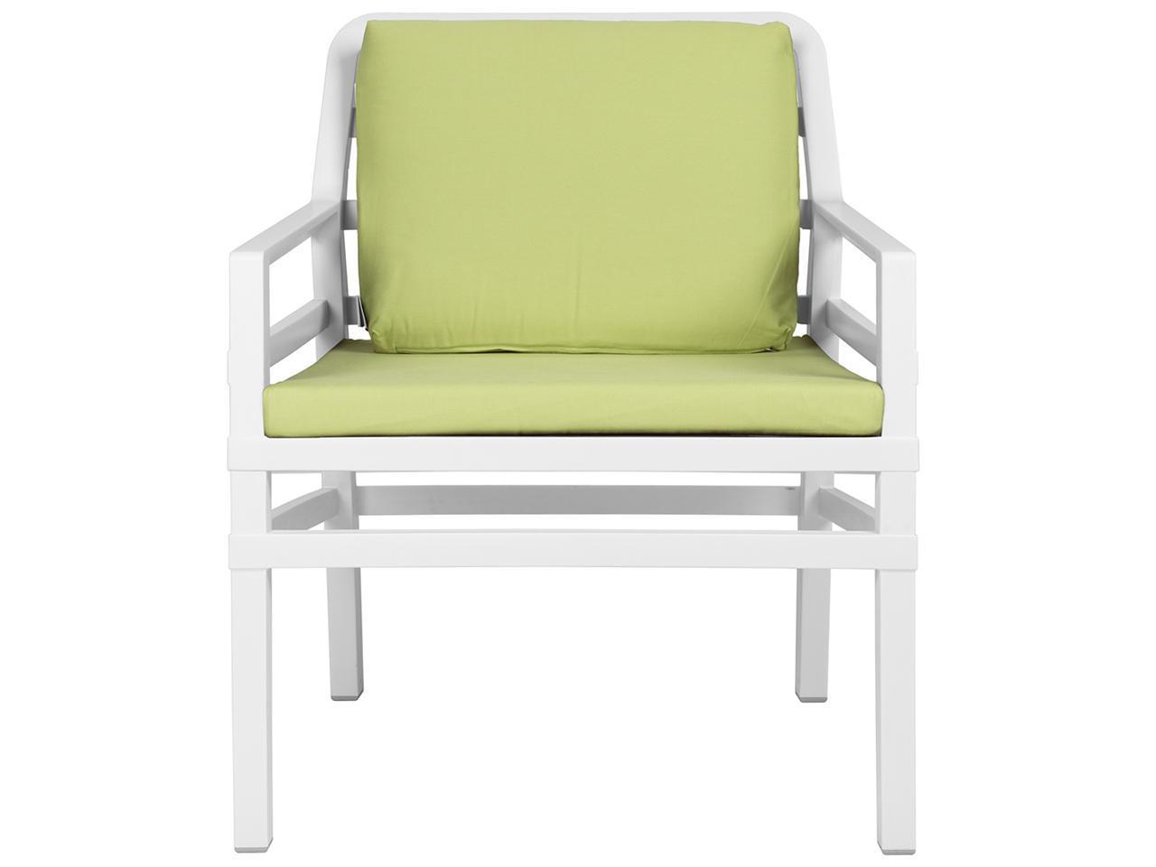 Кресло пластиковое с подушками Aria