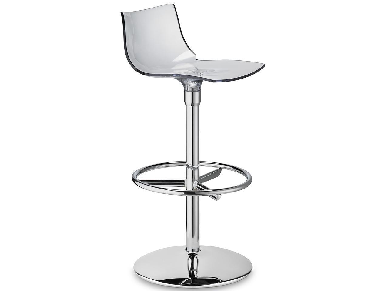 Барный прозрачный стул вращающийся Day Twist