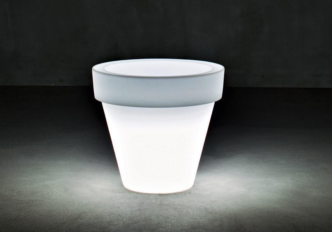 Кашпо пластиковое светящееся с контейнером Vas-Two