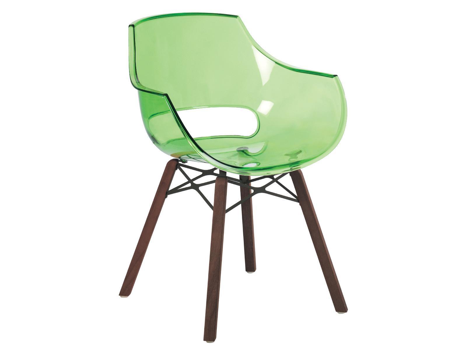 Кресло прозрачное Opal Wox Iroko