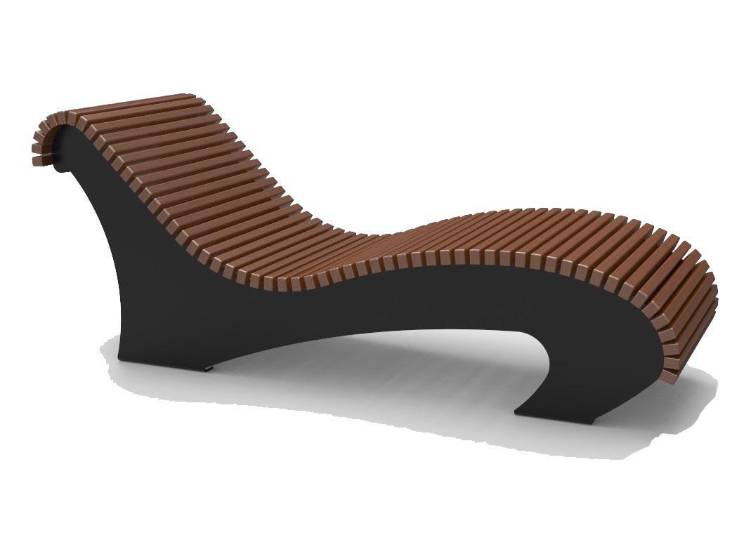 Лежак деревянный Санторини