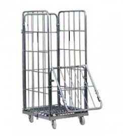 Тележка-стеллаж для перевозки и хранения белья с дверцей, ТБ 12.4
