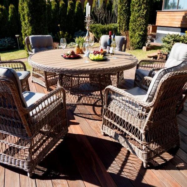 Комплекты плетеной мебели обеденная зона