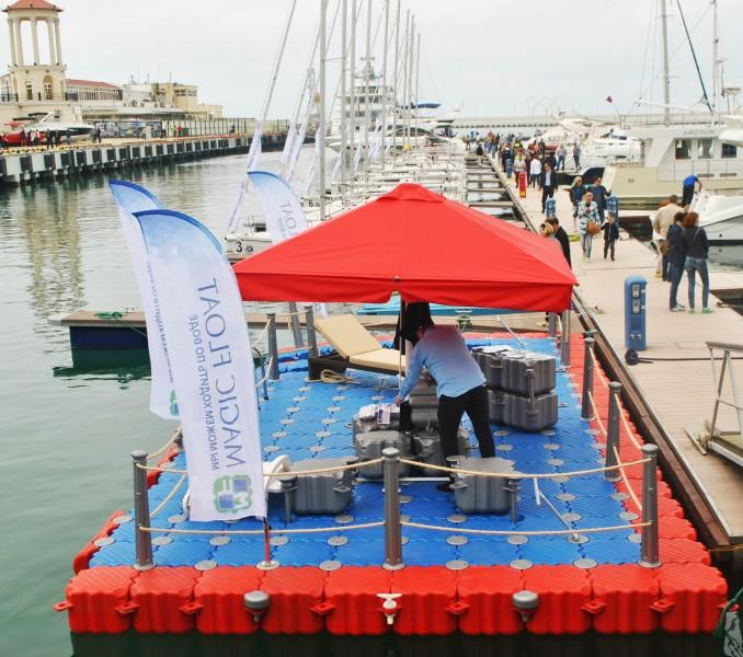 Понтоны для моря из модулей 50х50х40 см. Понтонный конструктор легкой сборки