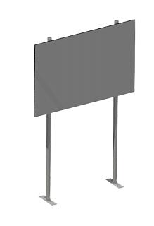 Стенд информационный на двух опорах, на фланцах