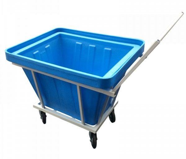 тележка для прачечной с пластиковым баком, ТП 27.1